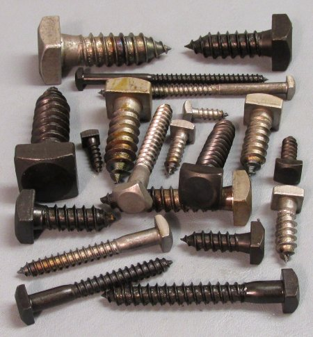 "5 pcs 1//2 x 6 Square Head Lag Bolt Screw Blacksmith Antique 3//4/"" Square head"